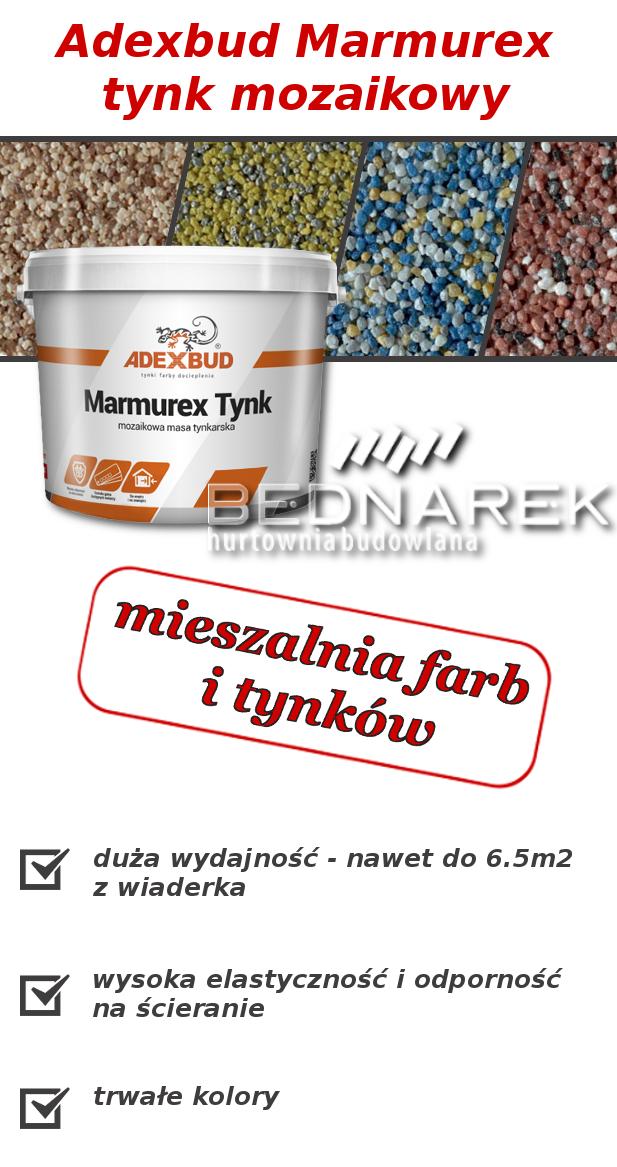 Adexbud Marmurex - tynk mozaikowy - mieszalnia farb i tynków