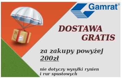 Gamrat - wysyłka gratis za zakupy powyżej 150zł brutto