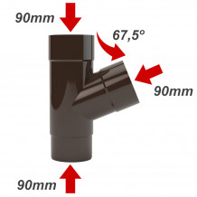 Bryza odzyskiwacz wody deszczowej 110mm Brąz