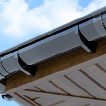 Plastikowa rynna 100 mm Gamrat w kolorze brązowym i długości 4mb