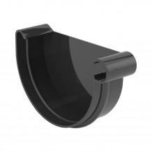 Plastikowa rynna 125 mm Gamrat w kolorze brązowym i długości 3mb