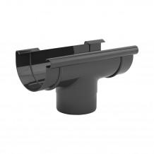 Plastikowa rura 63 mm Gamrat w kolorze brązowym i długości 3mb do rynny 75mm