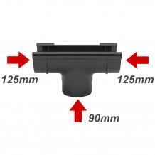 Rura PVC 63mm 4mb Gamrat kolor ciemny brąz RAL 8019 Rynna 75