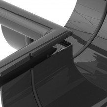 Plastikowa rura 90 mm Gamrat w kolorze brązowym i długości 3mb do rynny 100mm i 125mm