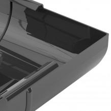 Rura PVC 110mm 3mb Gamrat kolor ciemny brąz RAL 8019 Rynna 125 150