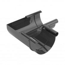 Plastikowa rura 110 mm Gamrat w kolorze brązowym i długości 4mb do rynny 125mm i 150mm