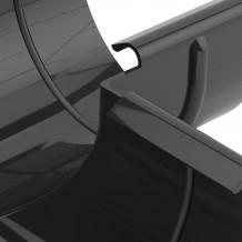 Złączka rynnowa 125mm Rynna PVC Gamrat kolor ciemny brąz RAL 8019