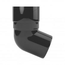 Plastikowy narożnik wewnętrzny rynny 75 w kolorze ciemnobrązowym