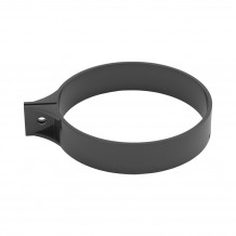 Plastikowy narożnik zewnętrzny rynny 75 w kolorze ciemnobrązowym