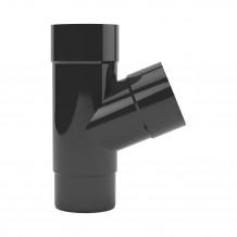 Plastikowy narożnik zewnętrzny rynny 125 w kolorze ciemnobrązowym