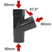 Narożnik zewnętrzny 150mm Rynna PVC Gamrat kolor ciemny brąz RAL 8019