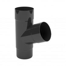 Plastikowy narożnik zewnętrzny rynny 150 w kolorze ciemnobrązowym