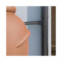 Denko rynnowe lewe 75mm Rynna PVC Gamrat kolor ciemny brąz RAL 8019