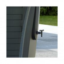 Plastikowa zaślepka lewostronna do rynien 125 w kolorze ciemnobrązowym