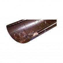 Denko rynnowe lewe 150mm Rynna PVC Gamrat kolor ciemny brąz RAL 8019