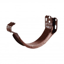 Złączka rury spustowej 63mm Rynna 75mm PVC Gamrat kolor ciemny brąz RAL 8019