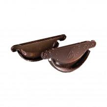 Plastikowa mufa do łączenia rur 63 w kolorze ciemnobrązowym rynna 75