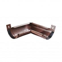 Złączka rury spustowej 90mm Rynna 100mm 125mm PVC Gamrat kolor ciemny brąz RAL 8019
