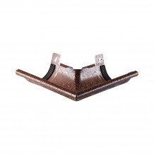 Plastikowa mufa do łączenia rur 90 w kolorze ciemnobrązowym rynna 100 125