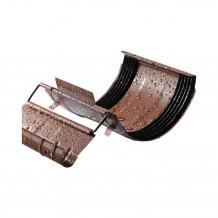 Złączka rury spustowej 110mm Rynna 125mm 150mm PVC Gamrat kolor ciemny brąz RAL 8019