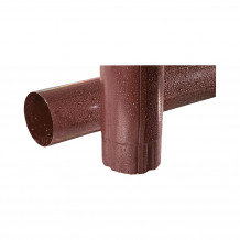 Plastikowa mufa do łączenia rur 110 w kolorze ciemnobrązowym rynna 125 150