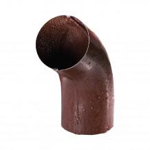 Plastikowe kolanko do łączenia rur 63 w kolorze ciemnobrązowym rynna gamrat 75