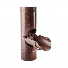 Plastikowe kolanko do łączenia rur 90 w kolorze ciemnobrązowym rynna gamrat 100 125
