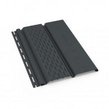 Plastikowa obejma do mocowania rur 63 w kolorze ciemnobrązowym rynna 75