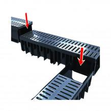 Denko rynnowe prawe 75mm Rynna PVC Gamrat kolor grafitowy RAL 7016