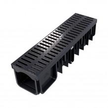 Denko rynnowe prawe 100mm Rynna PVC Gamrat kolor grafitowy RAL 7016