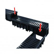 Denko rynnowe prawe 125mm Rynna PVC Gamrat kolor grafitowy RAL 7016