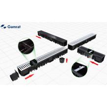 Denko rynnowe lewe 75mm Rynna PVC Gamrat kolor grafitowy RAL 7016