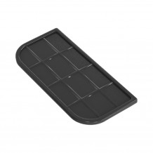 Denko rynnowe lewe 125mm Rynna PVC Gamrat kolor grafitowy RAL 7016