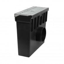 Plastikowe kolanko do łączenia rur 90 w kolorze grafitowym rynna gamrat 100 125
