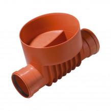 Kolano dwukielichowe rury spustowej 90mm Rynna 100mm 125mm Gamrat kolor grafit
