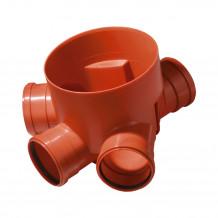Dwukielichowe grafitowe RAL 7016 kolano Gamrat 90